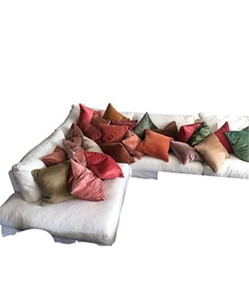 Cushion Cover Slub Velvet Krydder