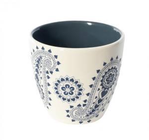 Image of XL Mug Paisly Blue